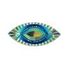 Resin Sew-on Piikki Stones 10pcs 18x40mm Navette Royal Blue Aurora Borealis